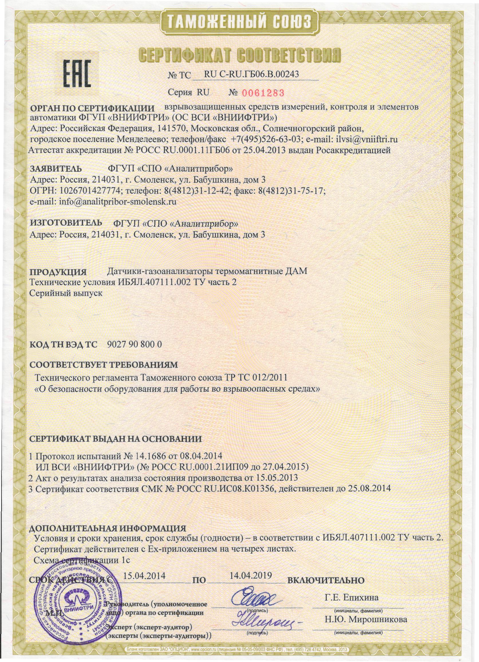 Сертификация на загазованность метрология, стандартизация и сертификация стандарт